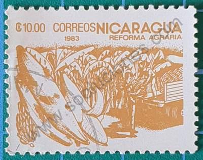 Sello de Bananas - Nicaragua 1983 10 C$