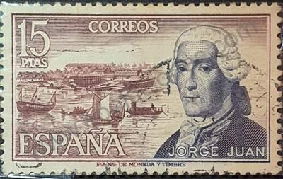 Sello de España 1974 15Pta Jorge Juan