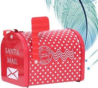 Caja de regalo forma de buzón de correo