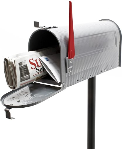 Buzón de correo US mail estilo americano con pie de apoyo