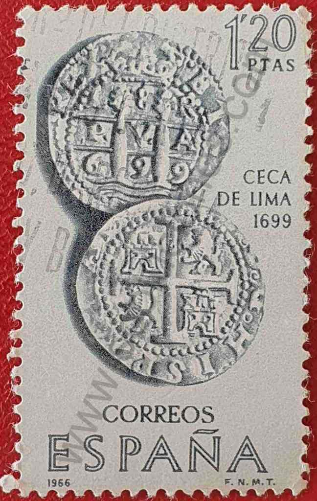 Monedas Incas - Sello España 1966