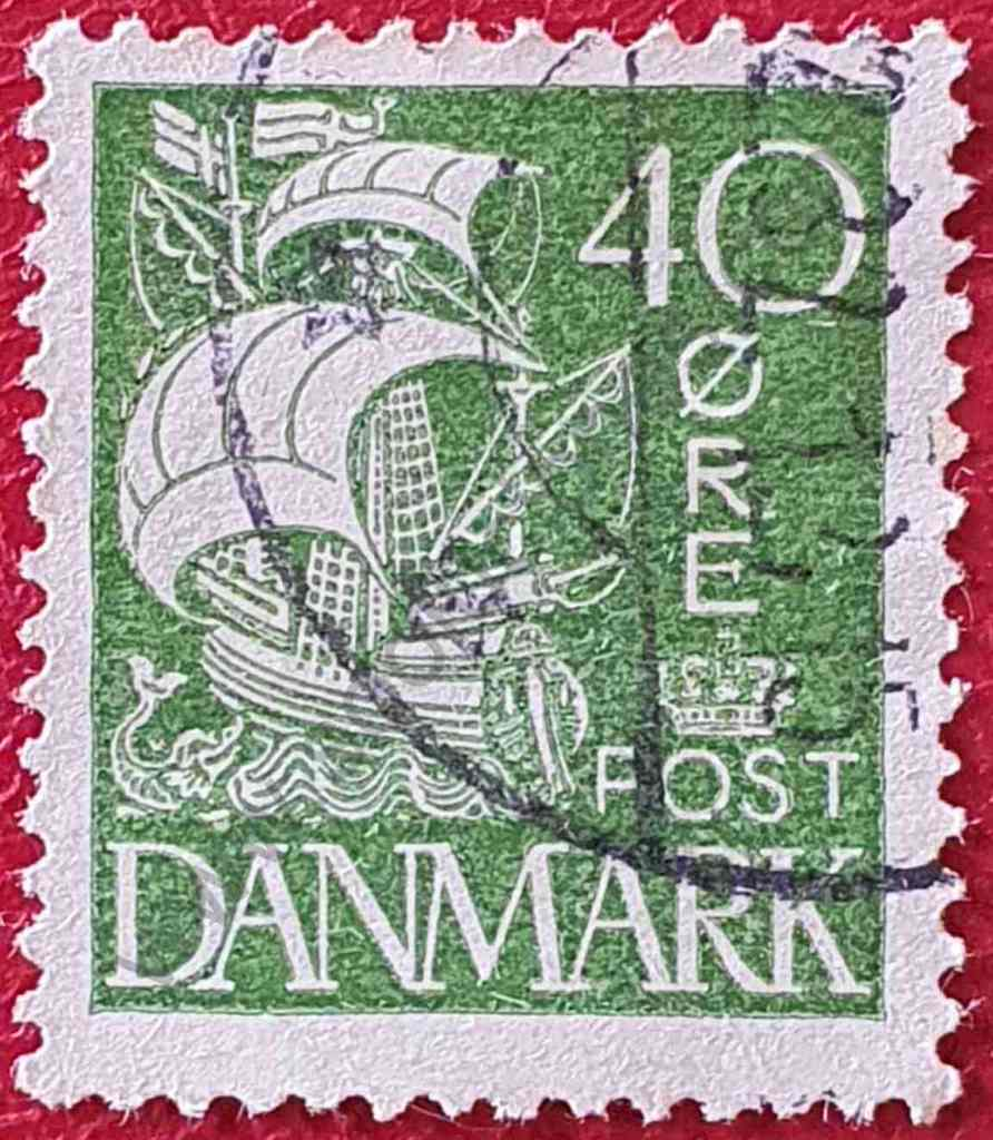 Carabela - Sello Dinamarca 1927