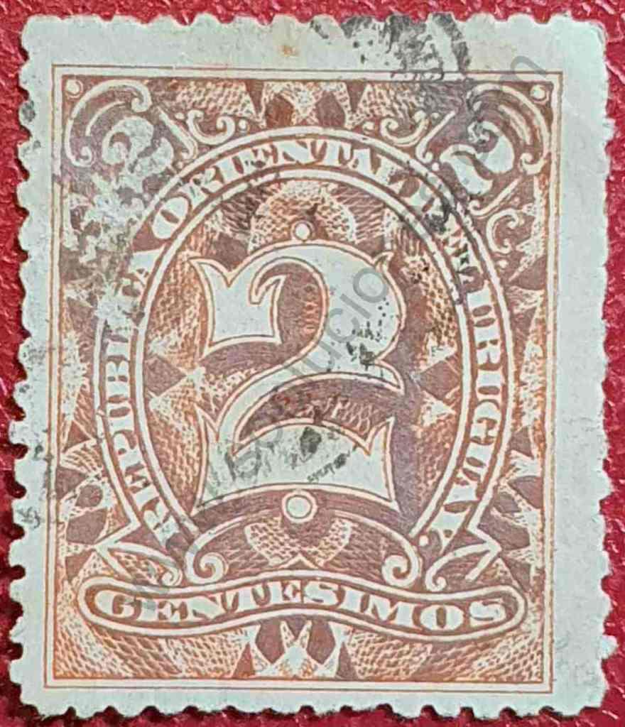Sello Uruguay 1899 Número 2