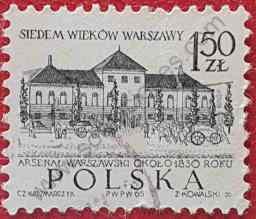 Sello Arsenal siglo XIX - Polonia 1965