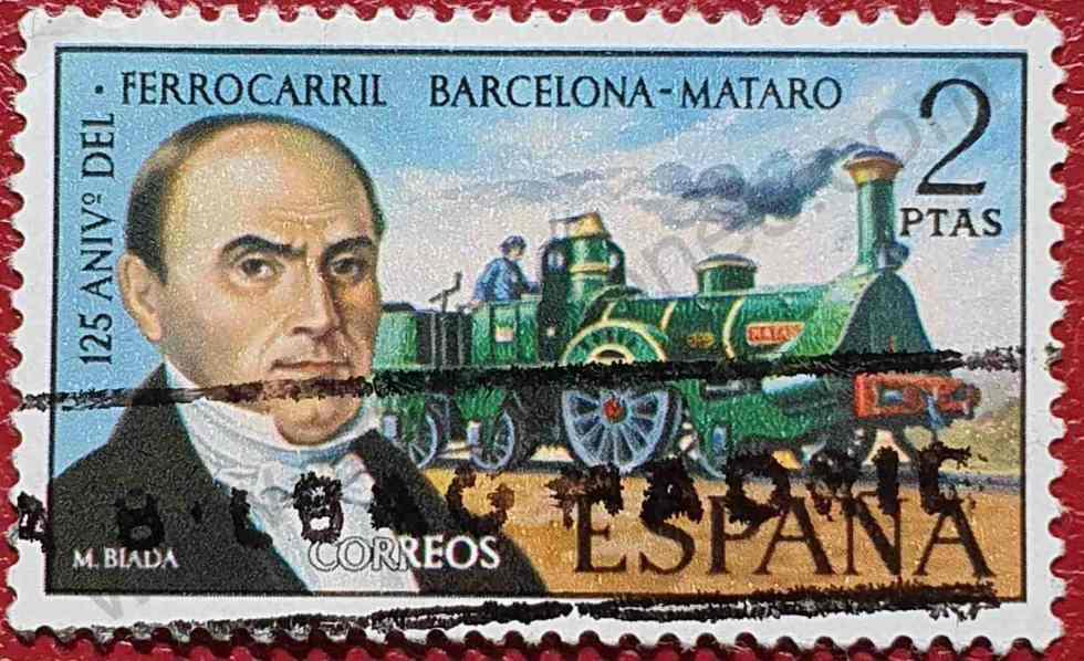 Sello Ingeniero Miguel Blada - España 1974