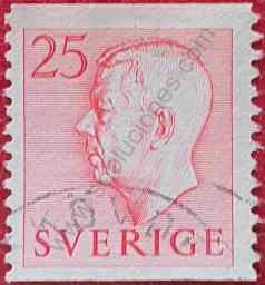 Sello Rey Gustaf VI - Suecia 1952