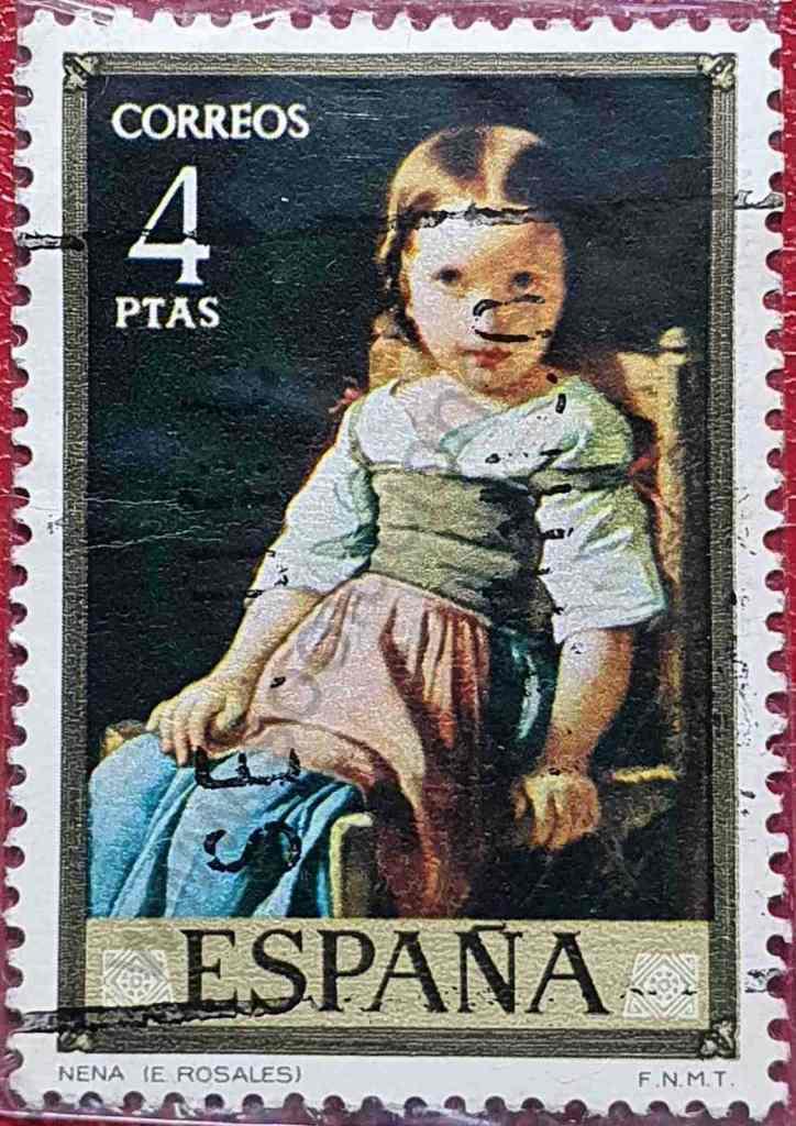 Pintura - Nena - Sello de España 1974