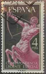 Sello Centauro 4Ptas - España 1956