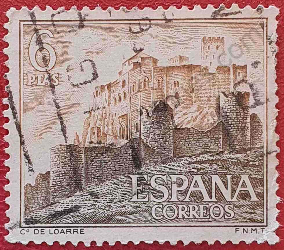 Sello Castillo Loarre - España 1967