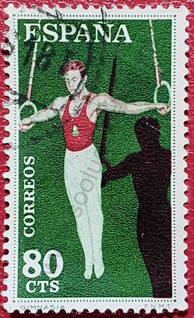 Gimnasia - Anillas - Sello España 1960