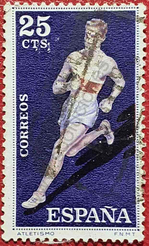 Atletismo - corredor - Sello España 1960