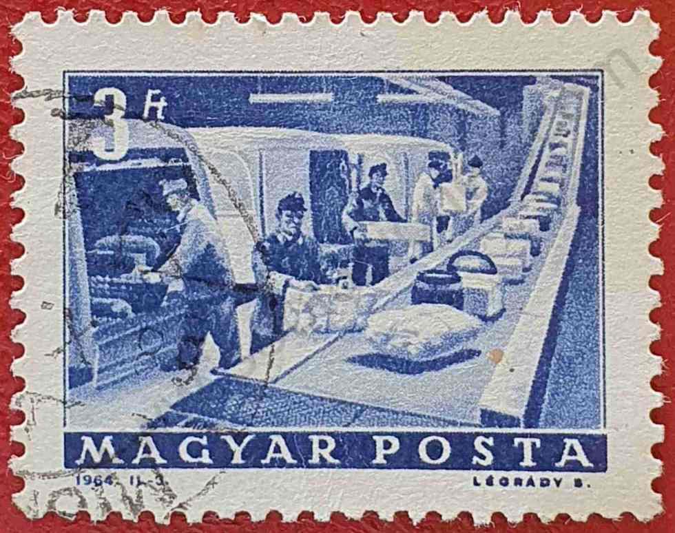 Transportador paquetes - Sello Hungría 1964
