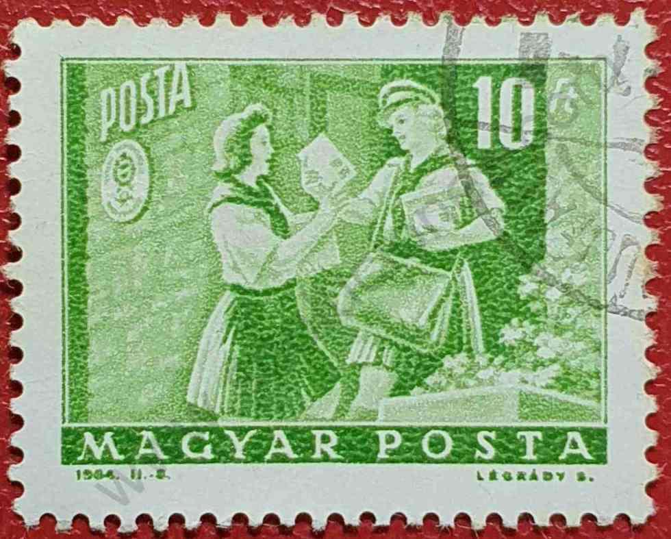 Reparto del correo - Sello Hungría 1964