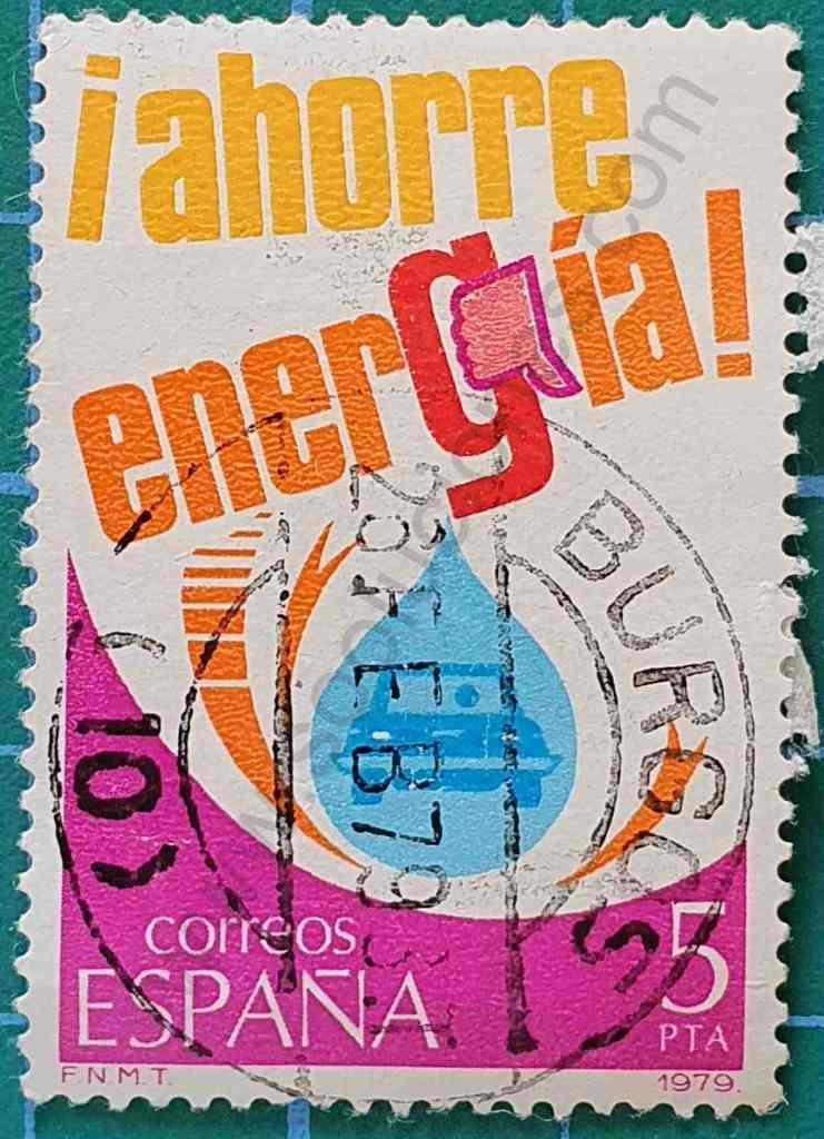 Coche y gota - Sello España 1979