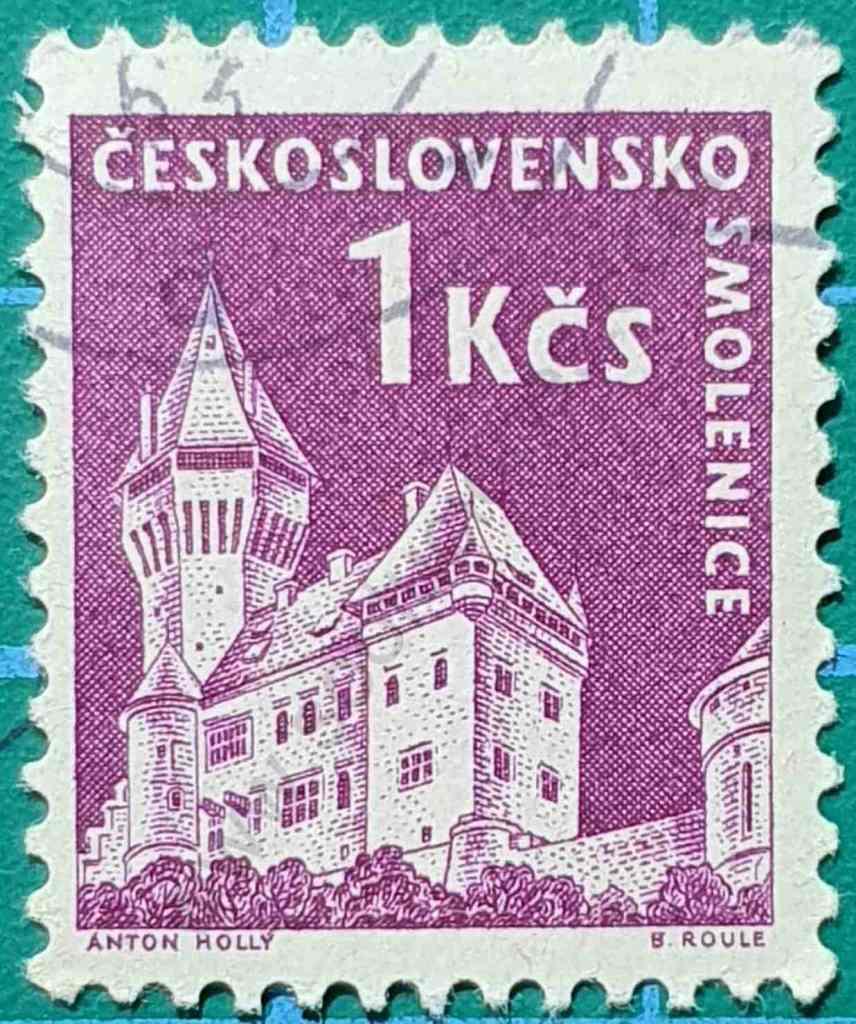 Castillo Smolenice - Sello Checoslovaquia 1960