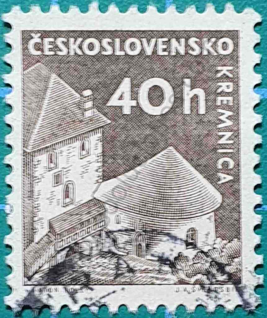 Castillo Kremnica - Sello Checoslovaquia 1960