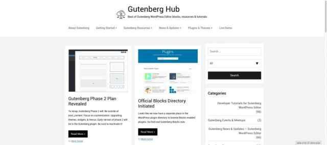 Gutenberg Hub Best of Gutenberg blocks resources tutorials