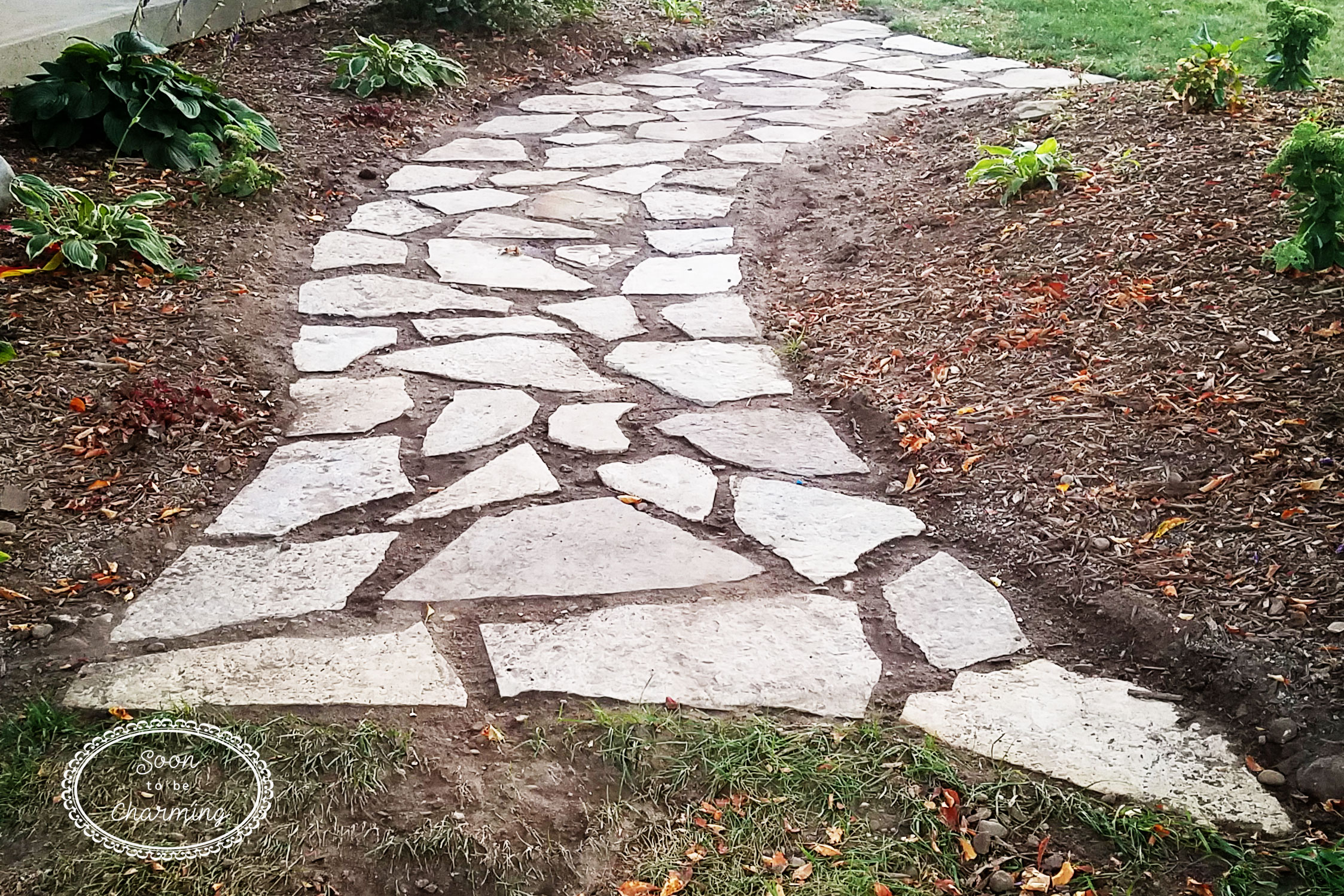 how to lay a flagstone pathway soon to be charming. Black Bedroom Furniture Sets. Home Design Ideas