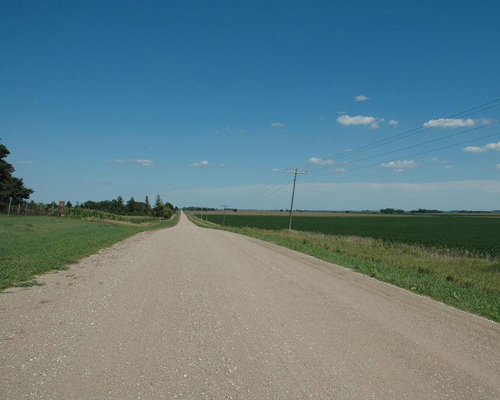 Nebraska road in Scribner