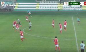 Defesa central do Taipas passa por todos os adversários e marca um golão