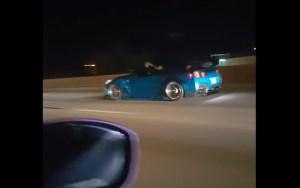 """Nissan GT-R parte a """"loiça toda"""" em corrida ilegal. Não tiveram qualquer hipótese!"""