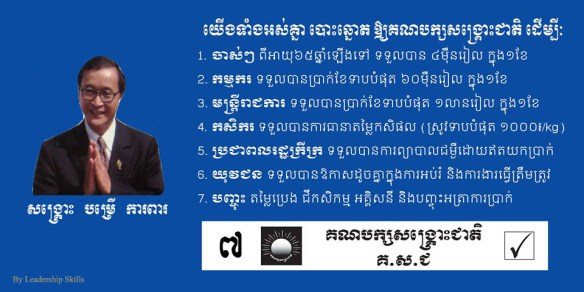 CNRP Sam Rainsy PM