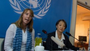Special Rapporteur of the UNs for Cambodia Prof. Rona Smith, and Country Rep. Hee Wan-Lee Courtesy: undp.org.fj