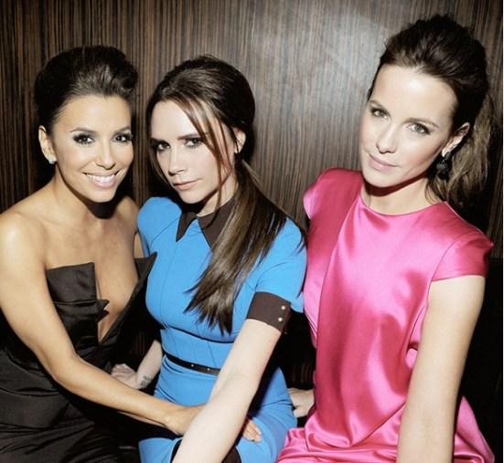 Kate Beckinsale + Victoria Beckham + Eva Longoria