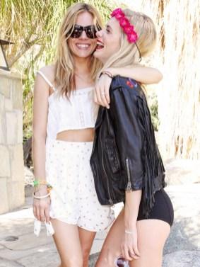 Sienna Miller + Poppy Delevingne