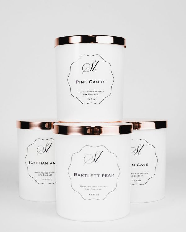 hand poured, scented coconut wax candles