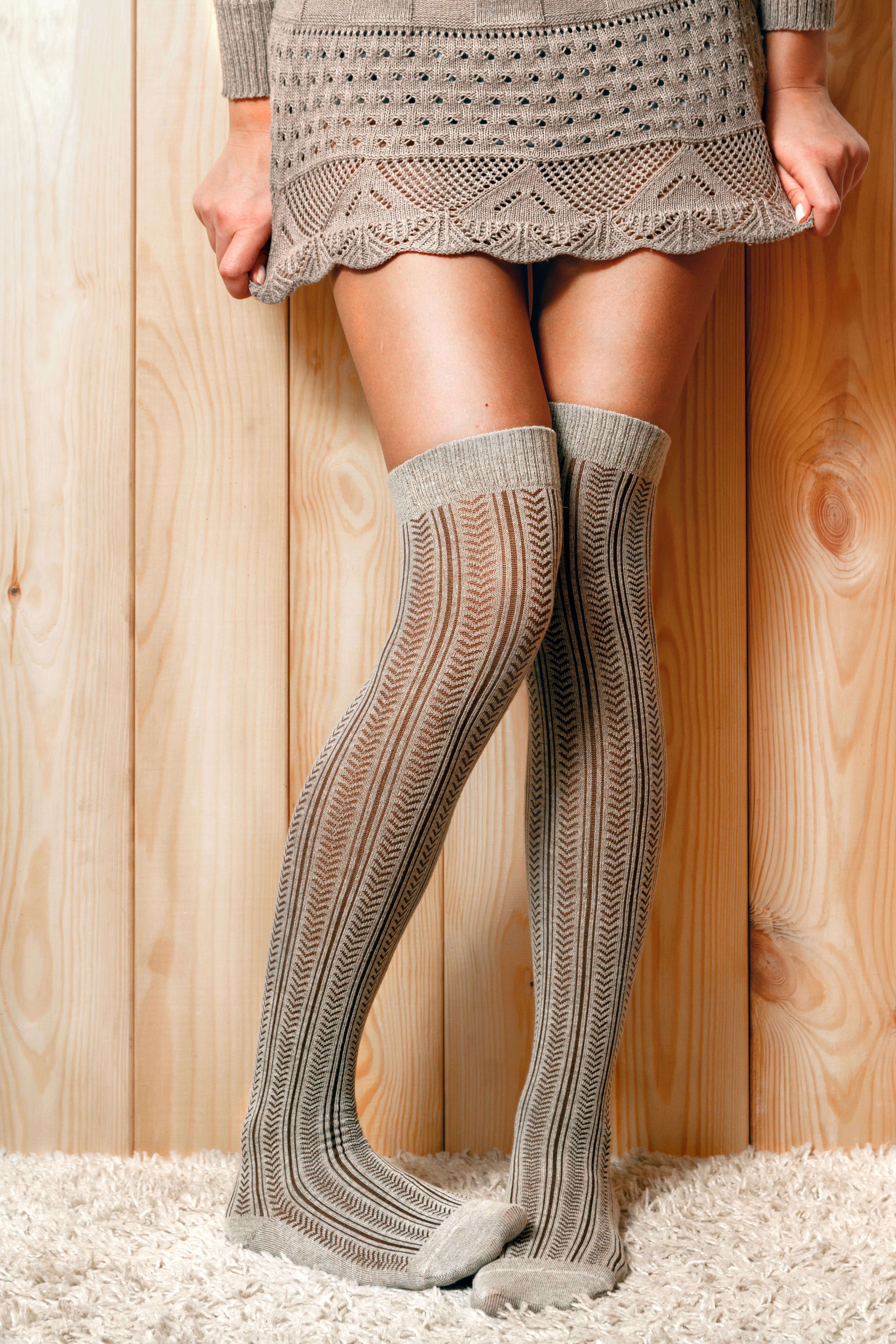Female feet in socks