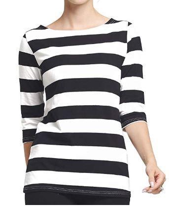 black and white strip