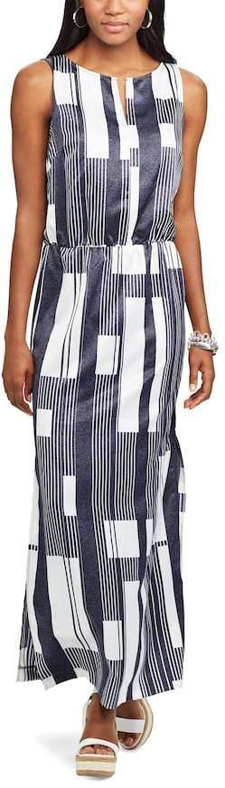 Women's Chaps Printed Crepe Maxi Dress