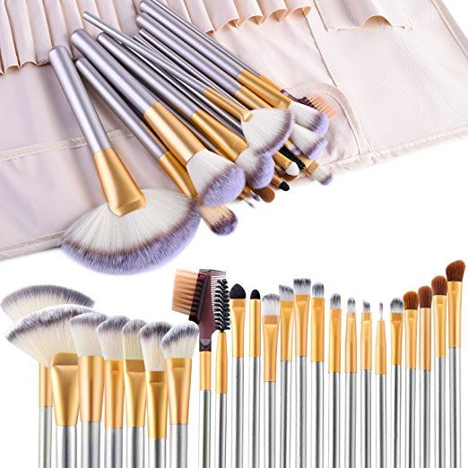 Make up Brushes, VANDER LIFE 24pcs Premium Cosmetic Makeup Brush Set for Foundation Blending
