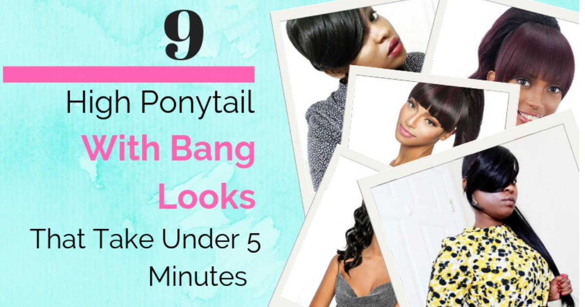 How To Create 9 Different Genie Ponytail With Bang Look In Under 5 Minutes fb