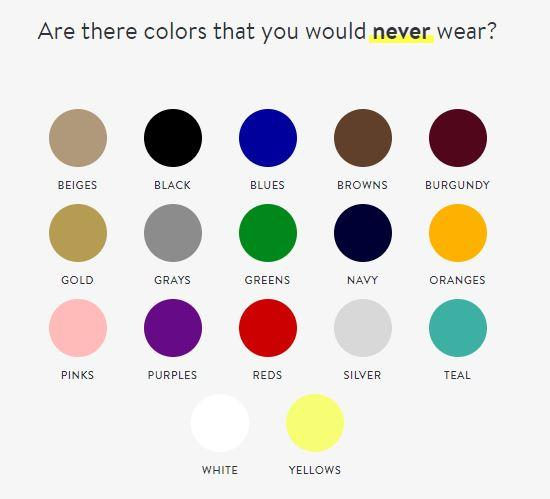 what colors do you where