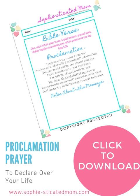 proclamation prayer