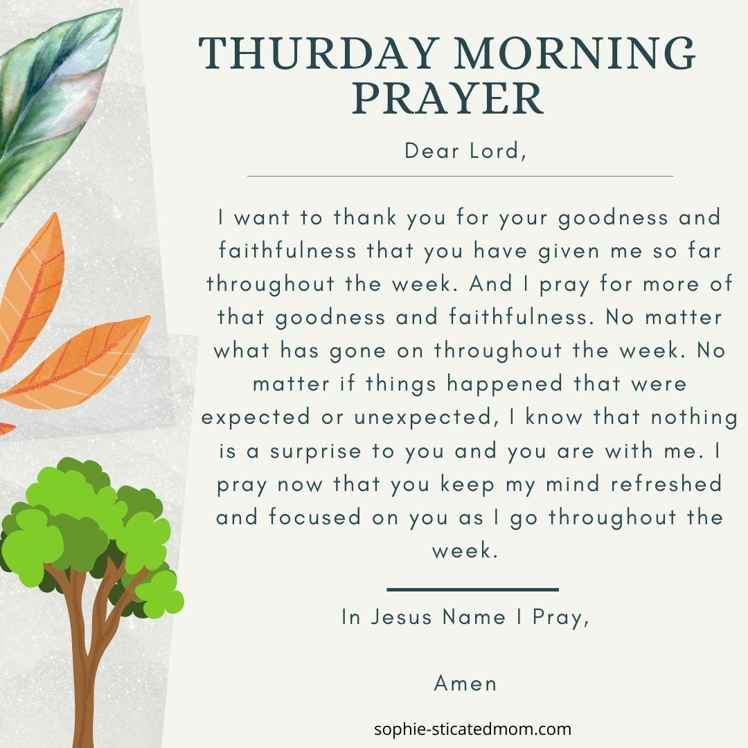 thurs Prayer