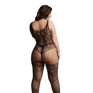 Le Desir Lace and Fishnet Bodystocking UK 14 to 20