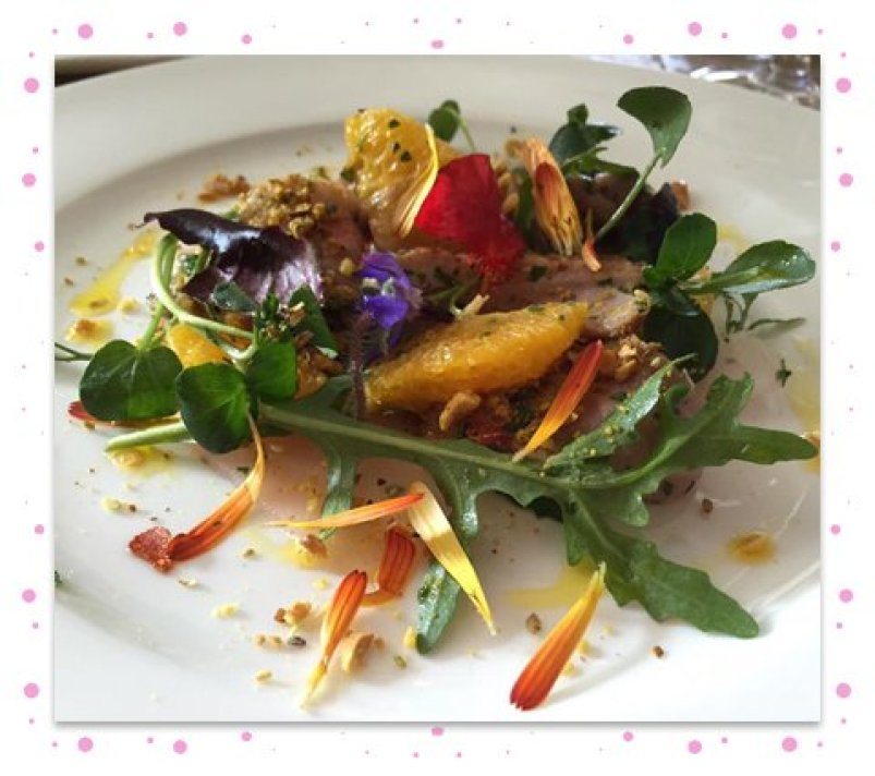 Duck, orange and dukkah salad