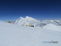 Everest et Lhotse vus du Makalu La