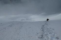 coulées de neige à la descente