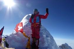 Sophie au sommet du Manaslu, 8163 m