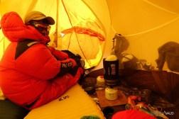 cuisine dans la tente au camp 4