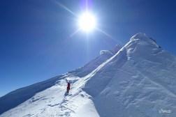 derniers pas vers le sommet