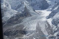 Glacier vu de l'hélico