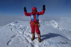 Sophie au sommet du K2 8611m
