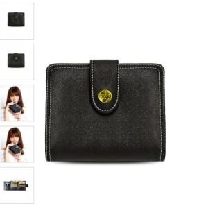 dompet monaco, dompet hitam kecil
