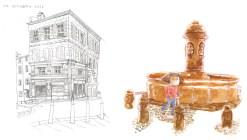 Clermont-Fd rue Marcombes et place du Terrail