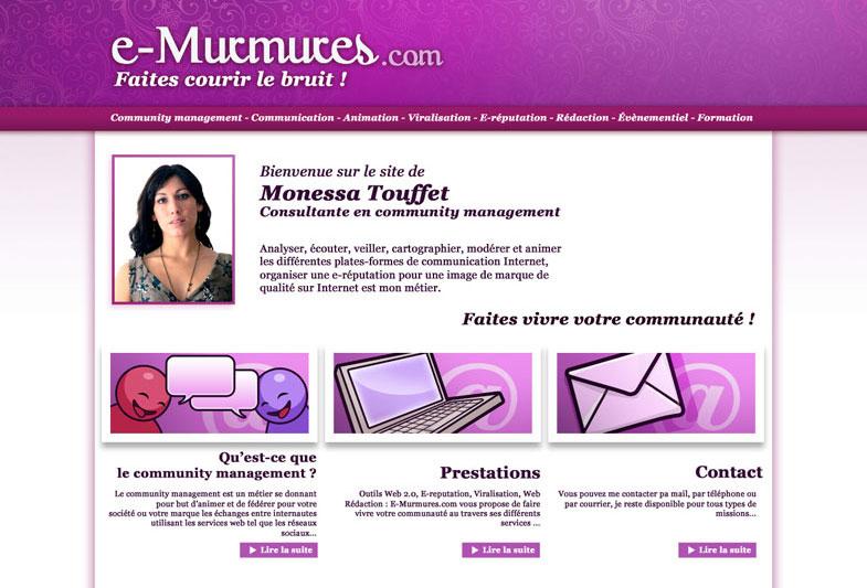E-murmures.com: design du site internet